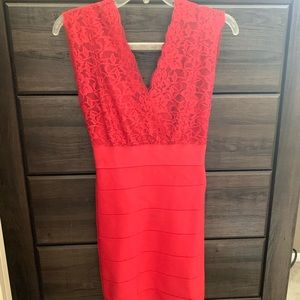 Red lace and bandage BeBe size S